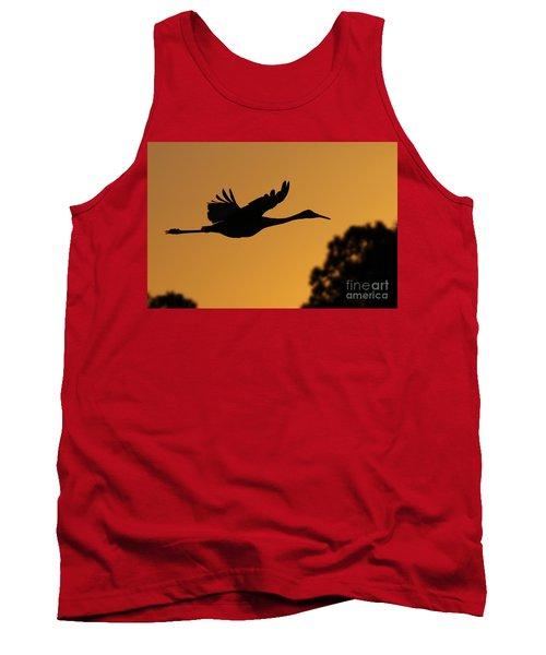 Sandhill Crane In Flight Tank Top