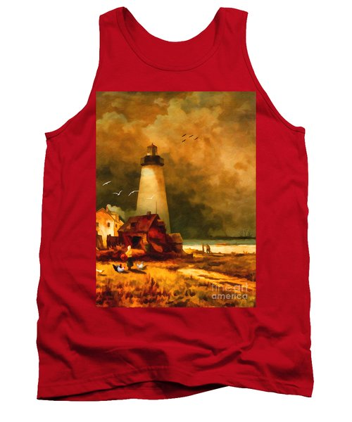 Sandy Hook Lighthouse - After Moran Tank Top