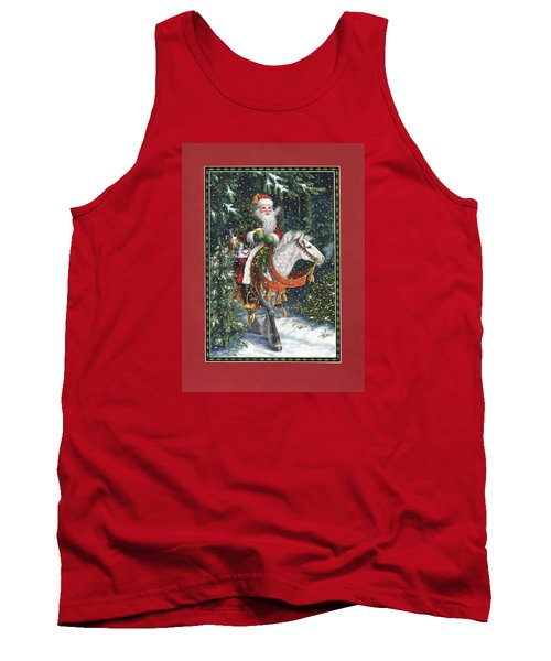 Santa Of The Northern Forest Tank Top
