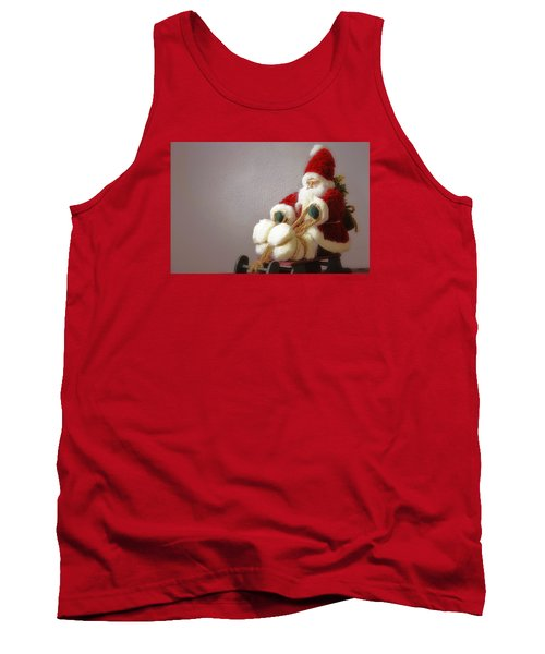 Tank Top featuring the photograph Santa Takes His Sled by Nadalyn Larsen