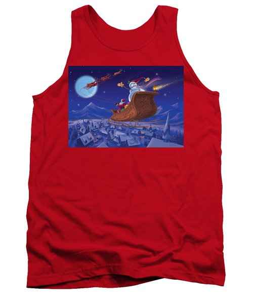 Tank Top featuring the painting Santa's Helper by Michael Humphries