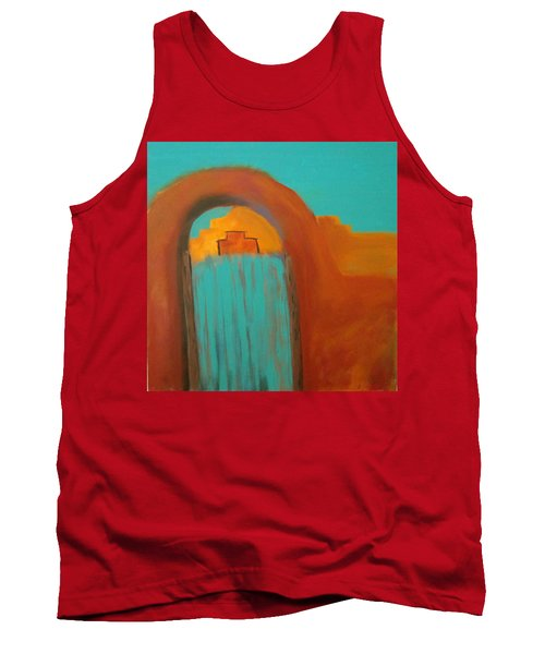 Tank Top featuring the painting Sante Fe by Keith Thue
