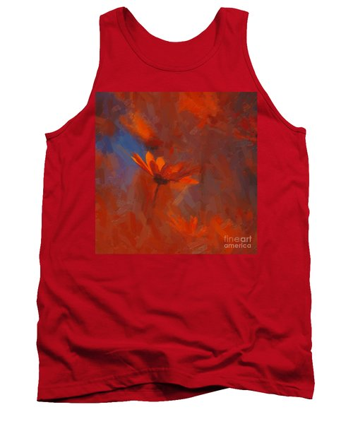 Scarlet Petals  Tank Top by Paul Davenport