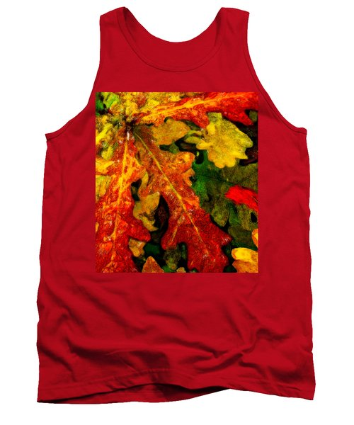 Tank Top featuring the digital art Season's End by Chuck Mountain