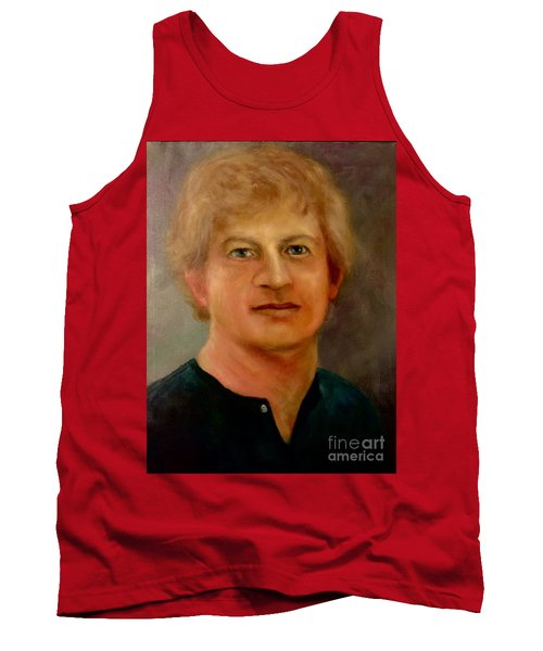 Tank Top featuring the painting Self Portrait by Randol Burns