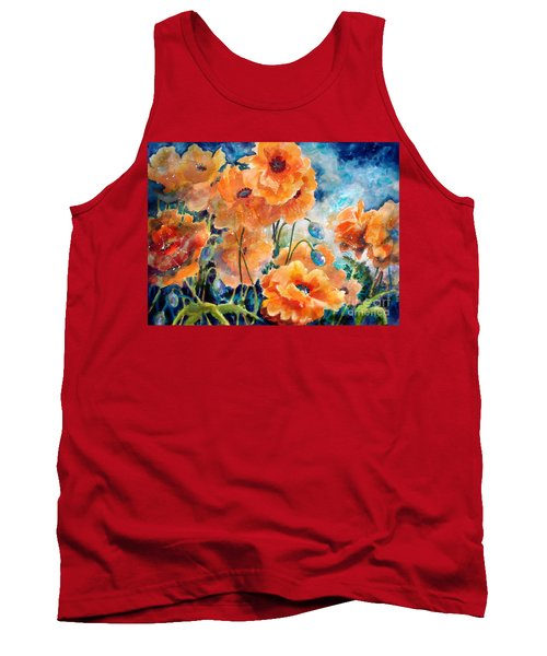 September Orange Poppies            Tank Top