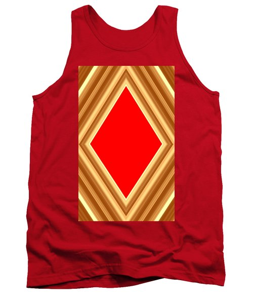 Tank Top featuring the digital art She Said Love Was Red  by Cletis Stump