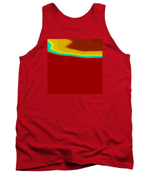 Tank Top featuring the painting Shoreline IIi  C2014 by Paul Ashby
