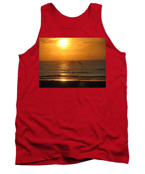 Shrimp Boat Sunrise Tank Top