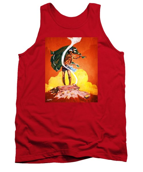 Tank Top featuring the painting Signal From The Mesa by Al Brown