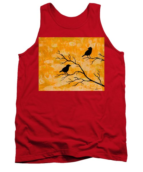 Silhouette Orange Tank Top by Stefanie Forck