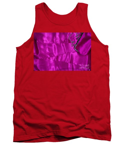 Tank Top featuring the photograph Silk Background With Purse by Gunter Nezhoda