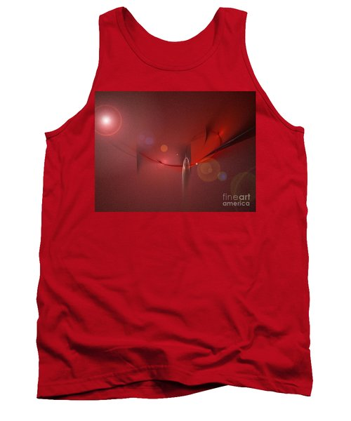 Tank Top featuring the digital art Simply Red by Jacqueline Lloyd