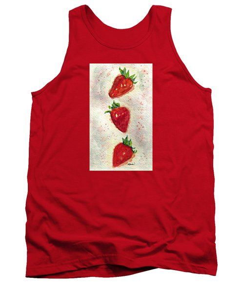 Tank Top featuring the painting So Juicy by Angela Davies