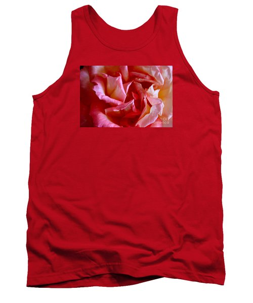 Tank Top featuring the photograph Soft Pink Petals Of A Rose by Janice Rae Pariza