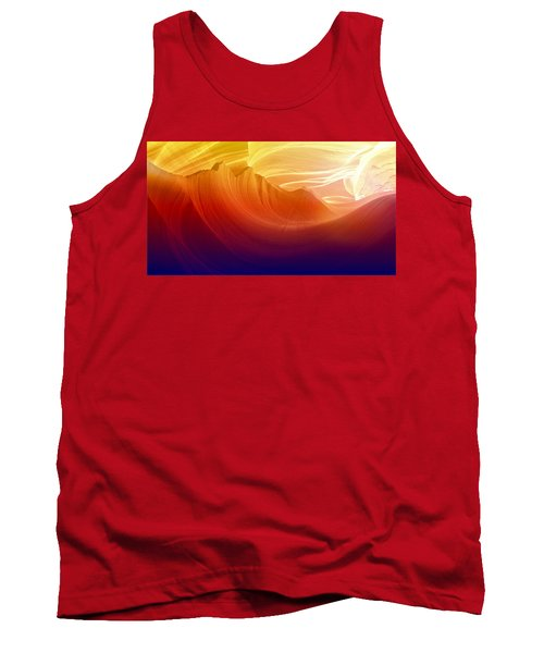 Tank Top featuring the photograph Somewhere In America Series - Colorful Light In Antelope Canyon by Lilia D