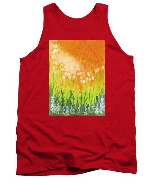 Tank Top featuring the painting Sonbreak by Holly Carmichael