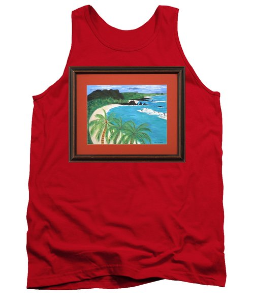 Tank Top featuring the painting South Pacific by Ron Davidson
