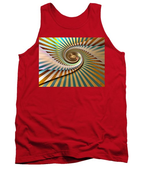 Tank Top featuring the digital art Spin by Manny Lorenzo