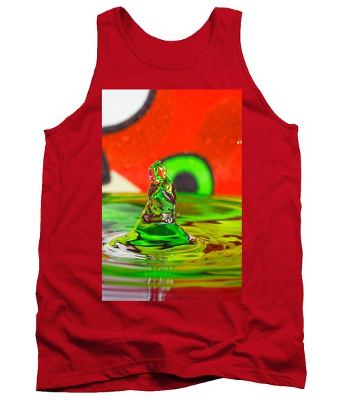 Tank Top featuring the photograph Splas by Peter Lakomy