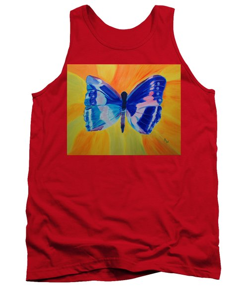 Tank Top featuring the painting Spreading My Wings by Meryl Goudey