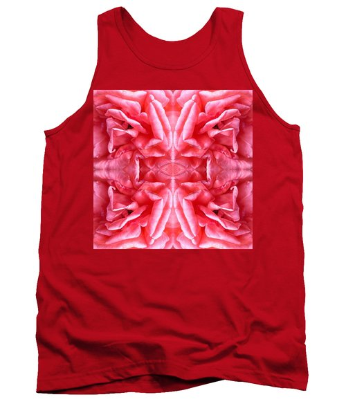 Tank Top featuring the photograph Square Petals Abstract Art Photo by Marianne Dow