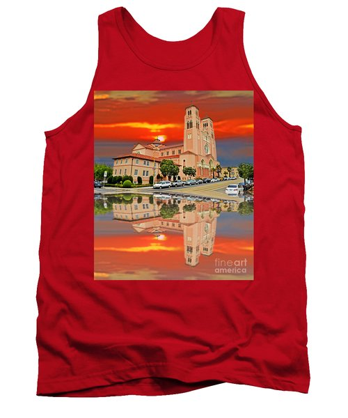St Anne Church Of The Sunset In San Francisco With A Reflection  Tank Top by Jim Fitzpatrick