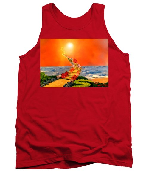 Tank Top featuring the painting Stairway To Heaven by Michael Rucker