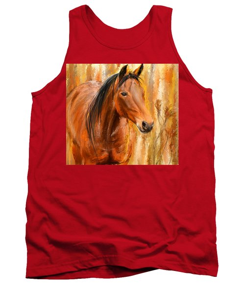 Standing Regally- Bay Horse Paintings Tank Top