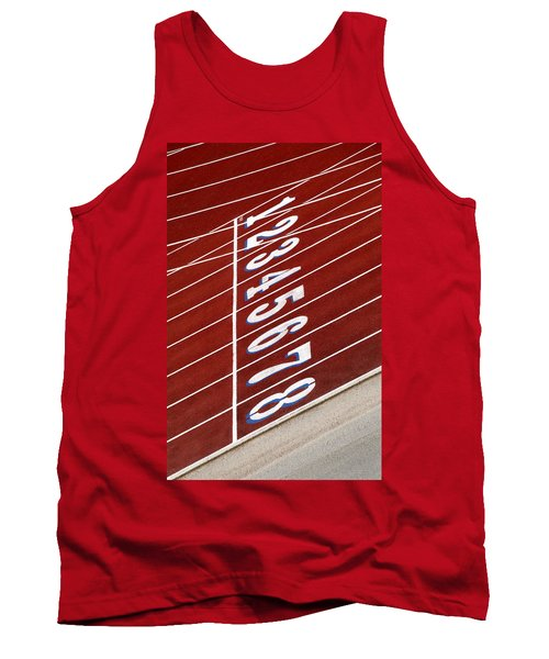 Track Starting Line Tank Top by Phil Cardamone