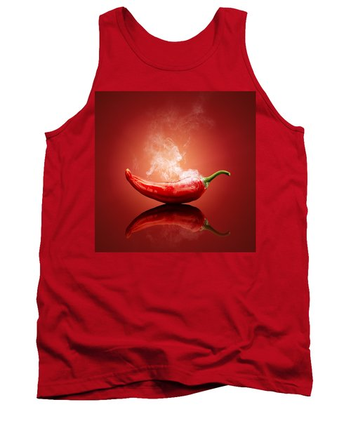 Steaming Hot Chilli Tank Top by Johan Swanepoel
