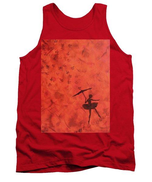 Stencil Ballerina Tank Top