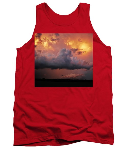 Stormy Sunset Tank Top by Ed Sweeney