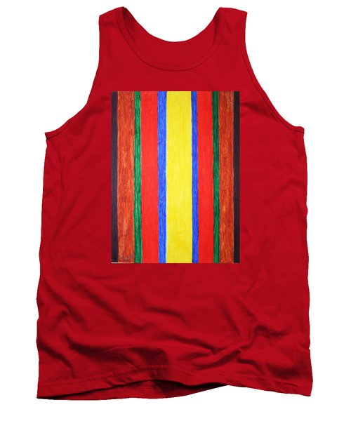 Tank Top featuring the painting Vertical Lines by Stormm Bradshaw