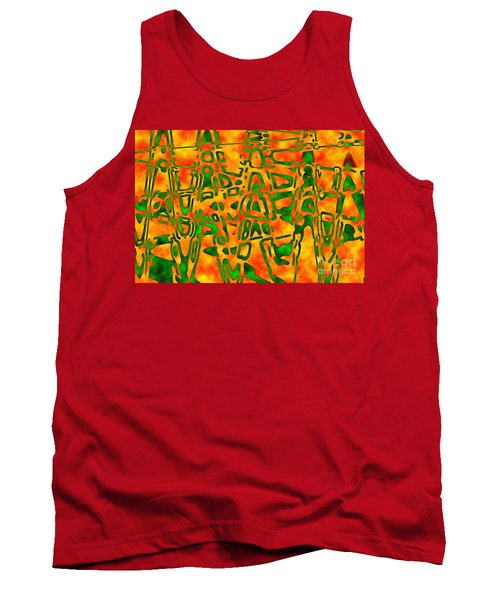 Tank Top featuring the photograph Strange Hieroglyphs by Mark Blauhoefer