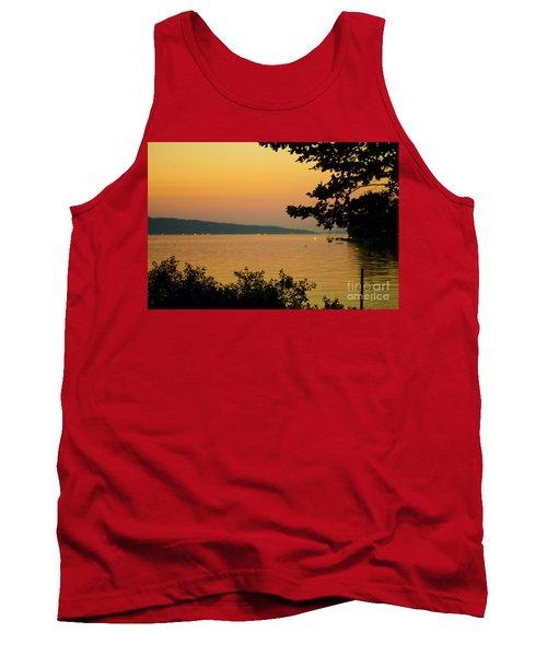Summer Evening On Cayuga Lake Tank Top