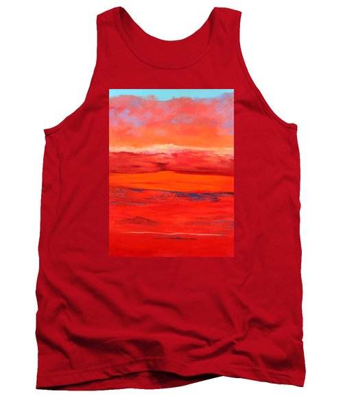 Tank Top featuring the painting Summer Heat 2 by M Diane Bonaparte