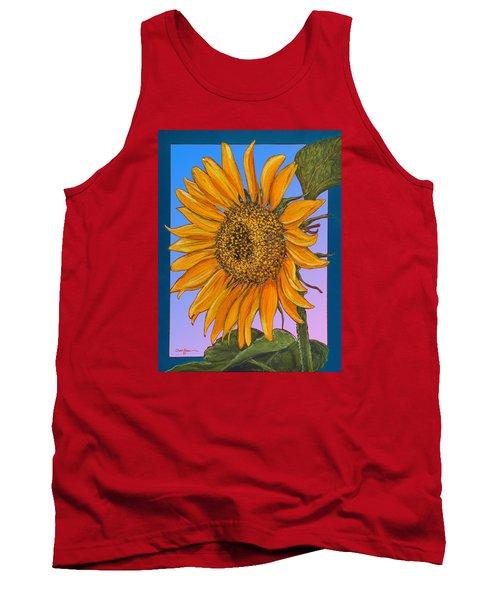 Da154 Sunflower By Daniel Adams Tank Top