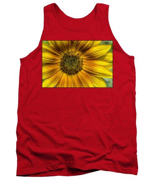 Sunflower In Oil Paint Tank Top