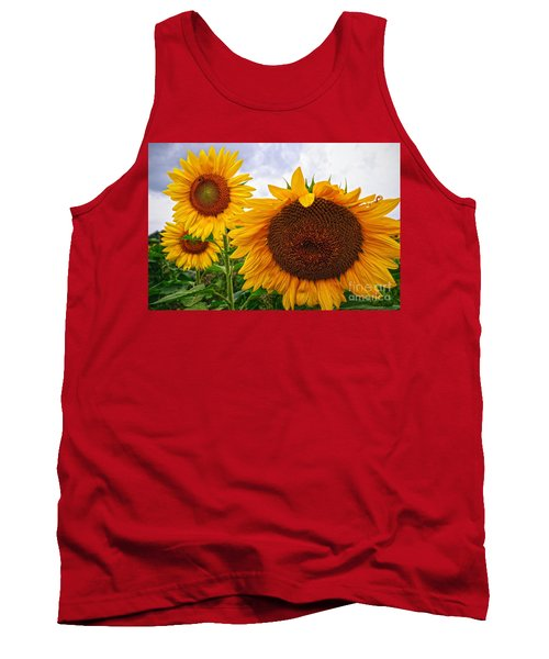 Sunflower Mama And Her Daughters  Tank Top