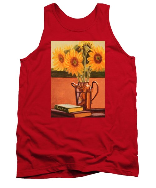 Sunflower Still Life Tank Top