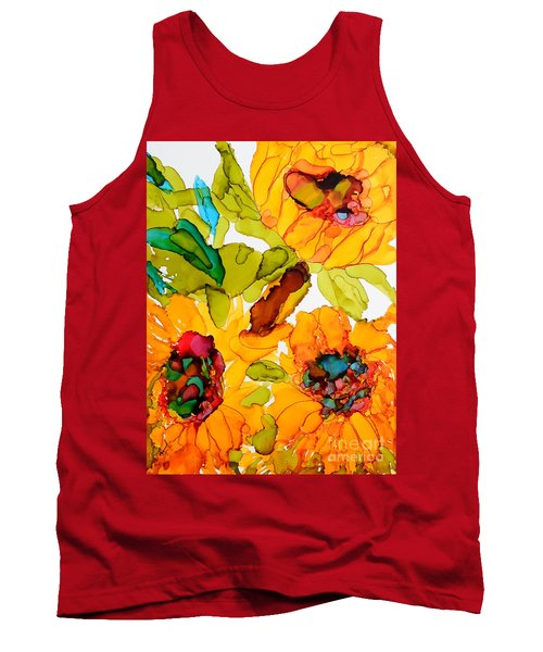 Sunflower Trio Tank Top