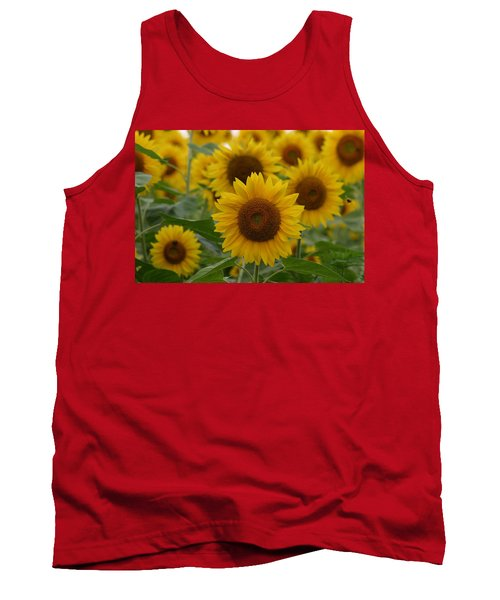 Sunflowers At The Farm Tank Top