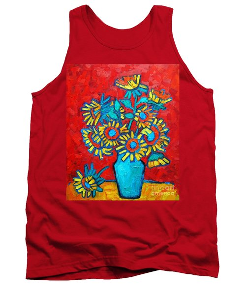 Sunflowers Bouquet Tank Top