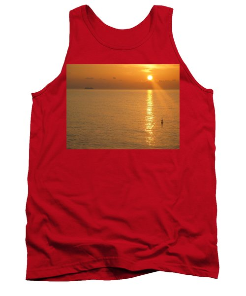 Tank Top featuring the photograph Sunrise At Sea by Photographic Arts And Design Studio