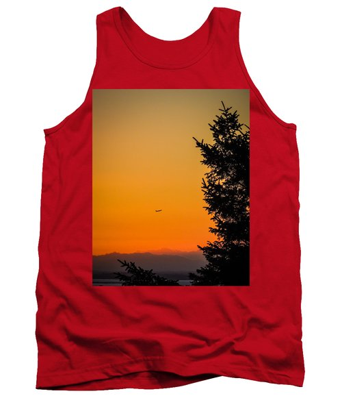 Sunrise Flight Departing Shannon Airport Tank Top