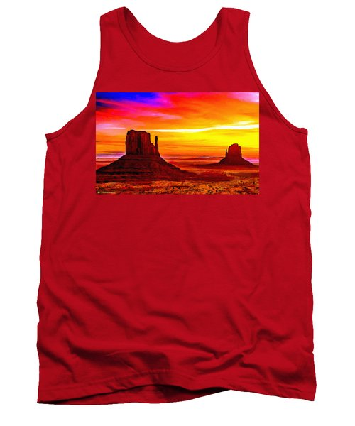 Sunrise Monument Valley Mittens Tank Top