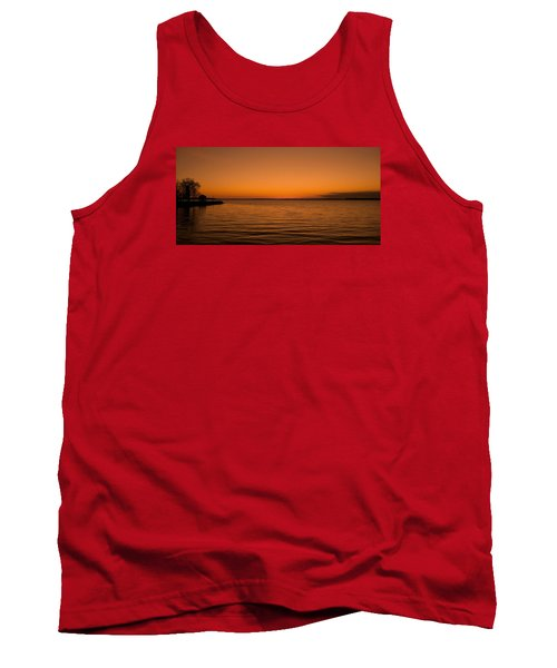 Tank Top featuring the photograph Sunrise Over The Lake Of Two Mountains - Qc by Juergen Weiss