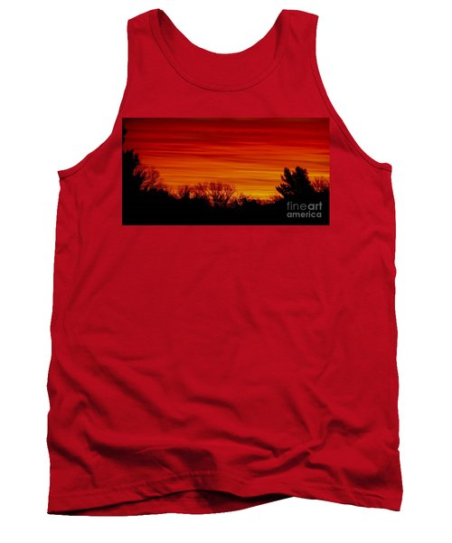 Tank Top featuring the photograph Sunrise Y-town by Angela J Wright