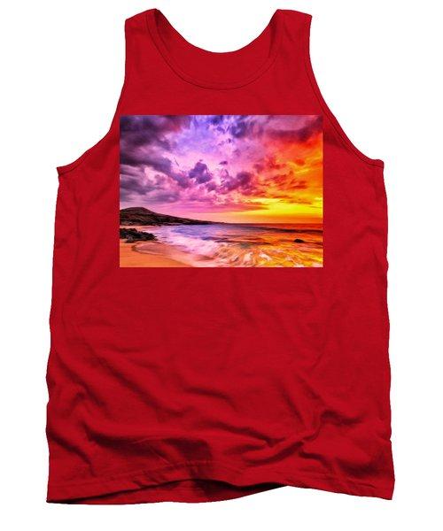 Sunset At Manini'owali Beach Tank Top